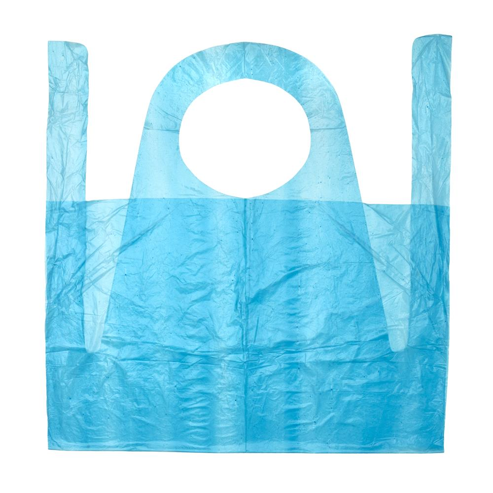 PLASTIC COLOURED APRONS – 100pc/pack
